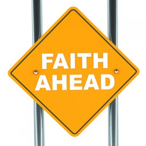 Faith Ahead sign